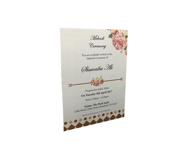 Mehndi Ceremony Cards : Shaadi cards bradford